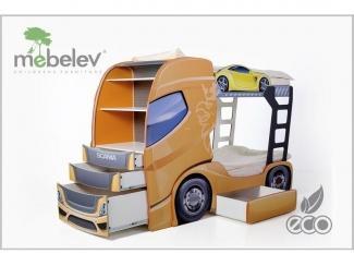 Двухъярусная кровать-машина  Скания+2  - Мебельная фабрика «МебеЛев», г. Набережные Челны