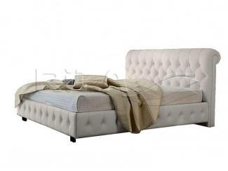 Кровать «Рондо»  из массива сосны и экокожи