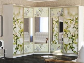 Угловой шкаф Фотопечать Цветы - Мебельная фабрика «Рамзес»