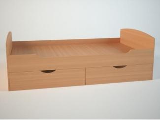 Односпальная кровать с ящиками  - Мебельная фабрика «Маэстро»