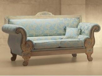 Красивый голубой диван Dubai - Импортёр мебели «Spazio Casa»