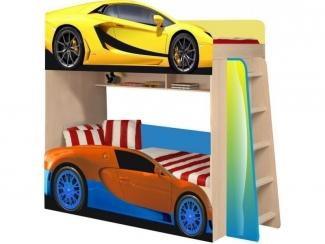 Двухъярусная кровать  Ламборджини и Бугати модель 4 - Мебельная фабрика «ПМК ВиП»