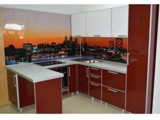 Кухня Акрил п-образная  - Мебельная фабрика «Вектра-мебель»