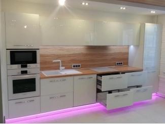 Прямая глянцевая кухня - Мебельная фабрика «Проспект мебели»