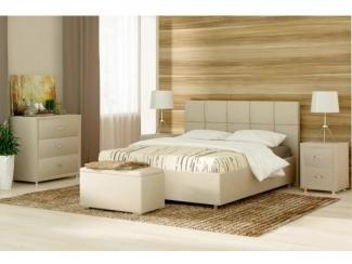 Бежевый спальный гарнитур Ричмонд  - Мебельная фабрика «Sonum»