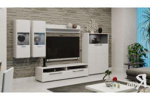 Модульная гостиная Наоми Белый глянец - Мебельная фабрика «ТриЯ»