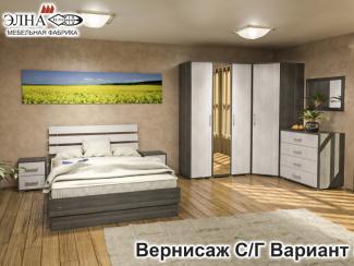 Спальня Вернисаж вариант 5 - Мебельная фабрика «Элна»