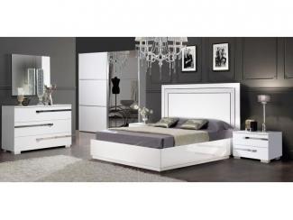 Спальный гарнитур Венеция белая со шкафом-купе - Мебельная фабрика «Слониммебель»