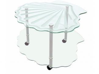 Стол журнальный Ракушка - Мебельная фабрика «Мебель из стекла»