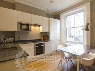 Белая кухня из акрила Мадрид  - Мебельная фабрика «Рябина»