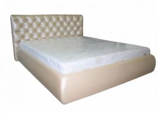 Мягкая кровать в каретной стяжке - Мебельная фабрика «Энигма»