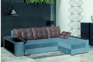 Угловой диван в голубом цвете Мадрит