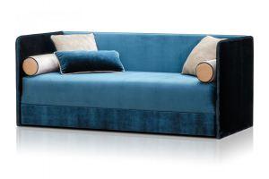 Небольшой синий диван Томас  - Мебельная фабрика «Diron», г. Челябинск