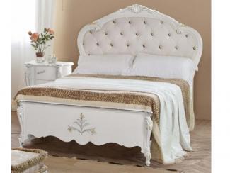 Кровать с обитым изголовьем - Импортёр мебели «Spazio Casa»