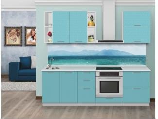 Прямая кухня Голубая лагуна