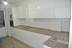 Кухня угловая белый глянец - Мебельная фабрика «Уют»