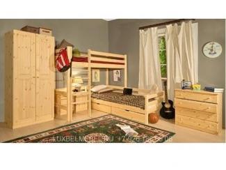Простая детская из массива 1516 - Мебельная фабрика «ЛюксБелМебель»