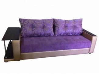 Фиолетовый прямой диван со столом  - Мебельная фабрика «Гарни», г. Волгоград