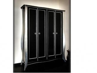 Классический шкаф черный с сусальным серебром - Мебельная фабрика «Мебель Парк»