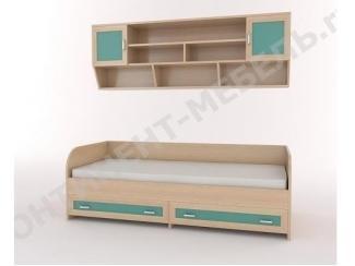 Кровать детская Камилла 1 с надстройкой  - Мебельная фабрика «Континент-мебель»