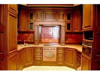 Полукруглый кухонный гарнитур