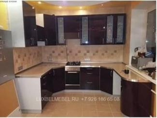 П-образная мебель для кухни МДФ 1436 - Мебельная фабрика «ЛюксБелМебель»