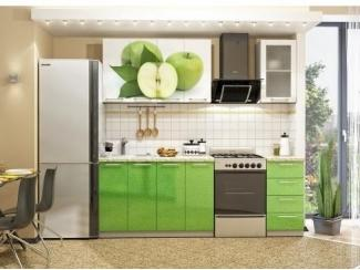 Прямая кухня с фотопечатью  Яблоко - Мебельная фабрика «Идея для дома»