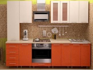 Прямая кухня в оранжевом цвете METRIO Д 2.3 - Мебельная фабрика «Центр мебели Интерлиния»