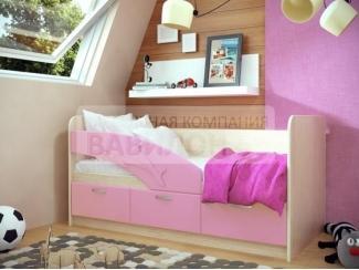 Детская розовая кровать Дельфин - Мебельная фабрика «Вавилон58»