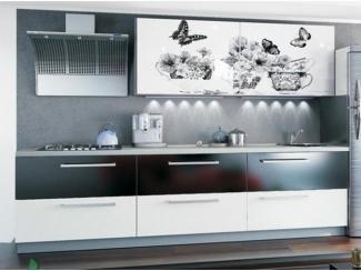 Прямая кухня Грей с фотопечатью - Мебельная фабрика «Манго»