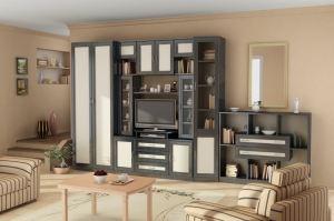 Гостиная стенка Гарун вариант 9 - Мебельная фабрика «Уют сервис»
