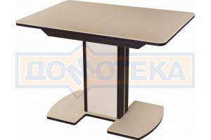 Обеденный стол Альфа ПР-1 КМ с ножкой 05 - Мебельная фабрика «Домотека»