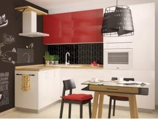 Красно-белая модель кухни Матрикс  - Изготовление мебели на заказ «Кухни ЧУ»