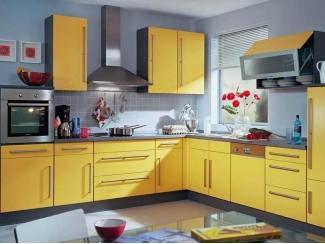 Кухонный гарнитур ЛДСП желтый - Мебельная фабрика «Вся Мебель»