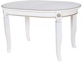 Белый обеденный стол Орион  - Мебельная фабрика «Кухни Альфа»