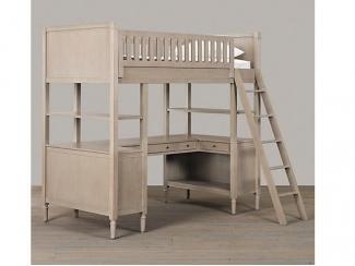 Элитная кровать-чердак из массива бука - Мебельная фабрика «Массив мастер», г. Екатеринбург