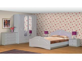 Спальный гарнитур Соня 6 фасад жемчуг - Мебельная фабрика «РиАл»