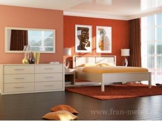 Новая модульная спальня Силуэт  - Мебельная фабрика «Фран»