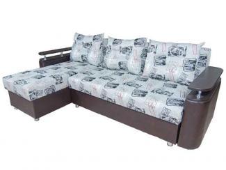 Диван угловой Сандра 04 с оттоманкой - Мебельная фабрика «Норма»
