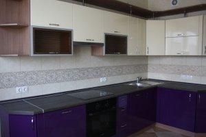 Кухня бежево-фиолетовая - Мебельная фабрика «МиАн»