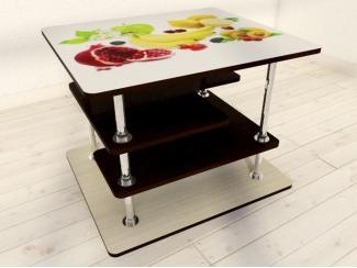 Квадратный стол  фотопечатью  6УФ  - Мебельная фабрика «Ваша мебель»