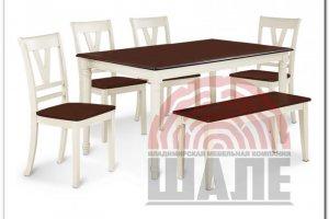 Обеденная группа стол и стул ХОЛЛИ - Мебельная фабрика «ВМК-Шале»