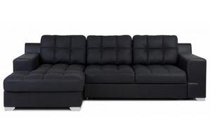 Черный угловой диван Тео  - Мебельная фабрика «Грос»