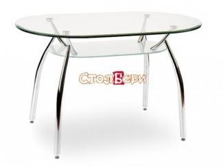 Стеклянный овальный стол Олимп О - Мебельная фабрика «СтолБери»