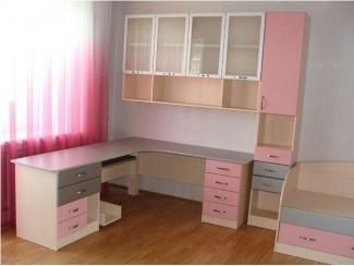 Розовый детский гарнитур - Изготовление мебели на заказ «Fishburg»
