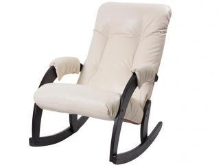 Черно-белое кресло-качалка 67 - Мебельная фабрика «Риваль»