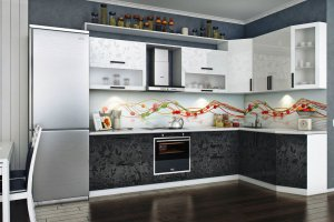 Кухонный гарнитур Флора - Мебельная фабрика «Славные кухни (ИП Ларин В.)»