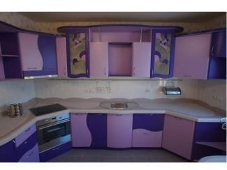 Фиолетовая угловая кухня - Салон мебели «Красивые кухни»