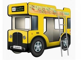 Двухъярусная кровать-Автобус СлипинБас Школьный жёлтый - Мебельная фабрика «КАРоБАС»