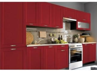 Красный прямой кухонный гарнитур Николь - Мебельная фабрика «SL-Мебель»